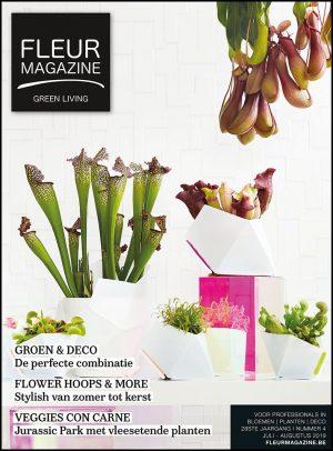 fleur magazine green living groen deco decoratie flower hoops vleesetende planten frederiek van pamel zomerkransen