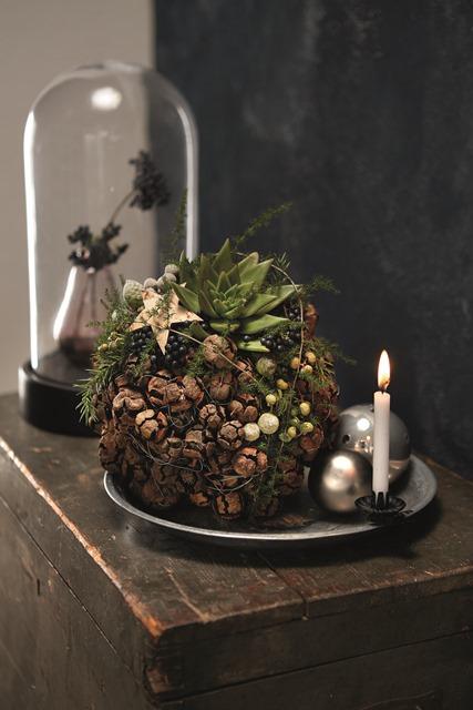 Just Christmas blooms kerstdecoratie adventcreaties DIY fleur creatief magazine fleur bookshop.be