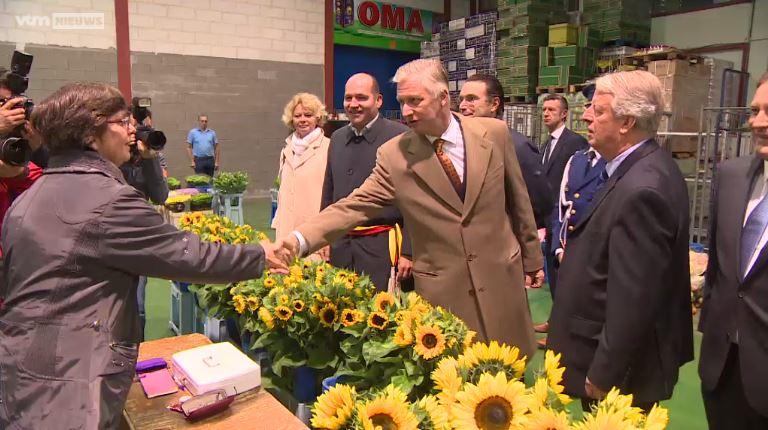 VTMnieuws.be Koning Filip op bezoek bij Mabru
