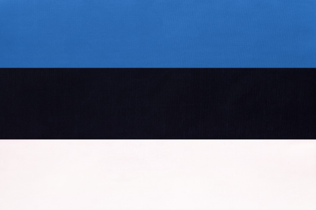 Estonia national fabric flag, symbol of international world european country. Premium Photo
