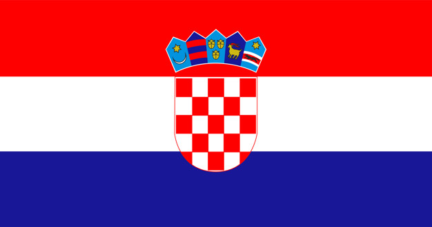 Illustration of croatia flag Free Vector