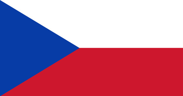 Illustration of czech republic flag Free Vector