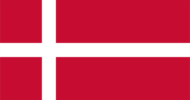 Illustration of denmark flag Free Vector
