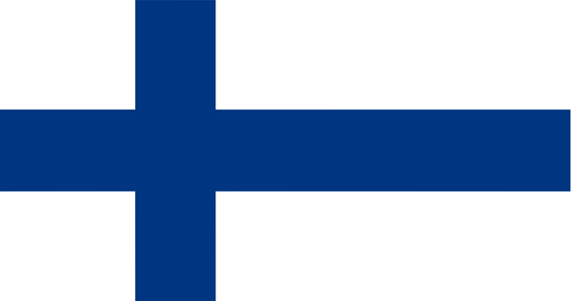 Illustration of finland flag Free Vector