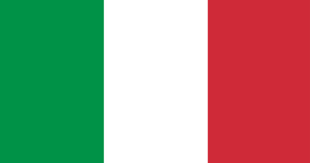 Illustration of italy flag Free Vector
