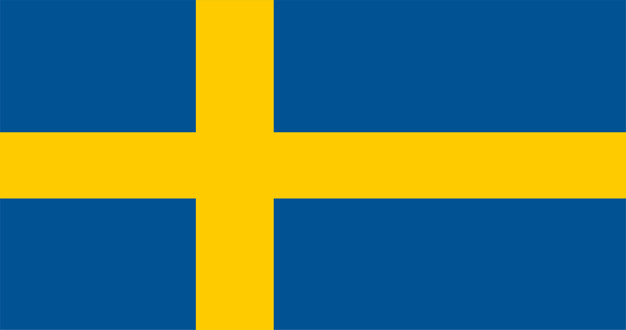 Illustration of sweden flag Free Vector