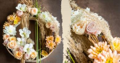 pastelkleurige krans bloemenkrans moniek vanden berghe trend ecologie fleur creatief magazine floral art bloemenkunst bloemendesign bloemenliefhebbers bloemenontwerp bloemsierkunst floristen bloemisten bloemenwinkel flower lovers professionals herfst design herfstbloemen herfstinspiratie tips