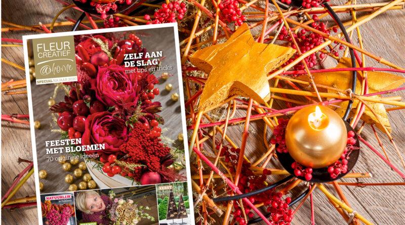 nieuw magazine fleur creatief @ home najaar 2020 special themanummer feestelijke decoraties najaar herfst winter kerstmis eindejaarsfeesten najaarsfeesten feestperiode feestdecoraties bloemendecoraties bloemen zelf aan de slag diy do it yourself knutselen tips & tricks natuurlijke materialen trends droogbloemen kerstbomn tafeldecoratie kaarsenhouders kerstkransen adventskrans