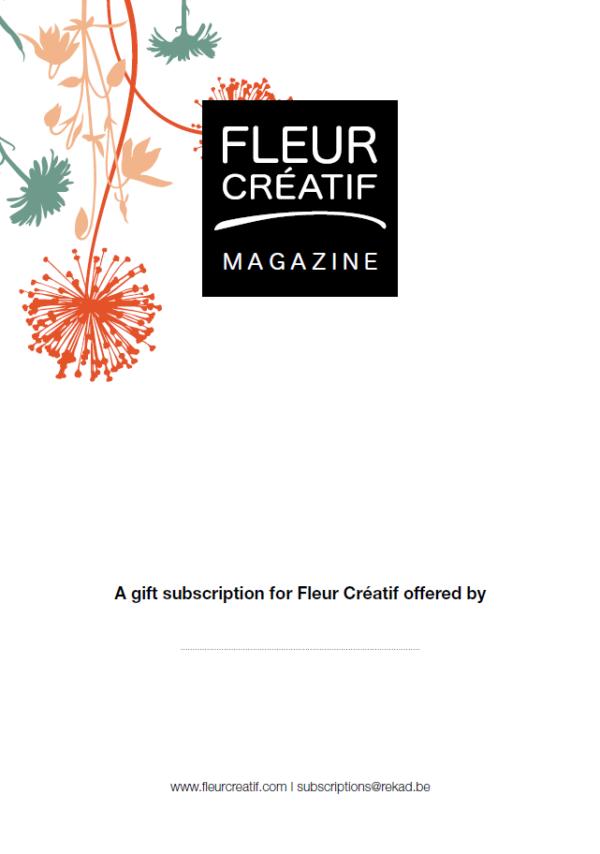 fleur creatief magazine geschenk cadeau abonnement feestdagen kerstmis kerstgeschenk inspiratie floral magazine bloemenmagazine bloemenliefhebbers tijdschrift boeken diy's creatief geschenkabonnement fleur magazine droogloemen