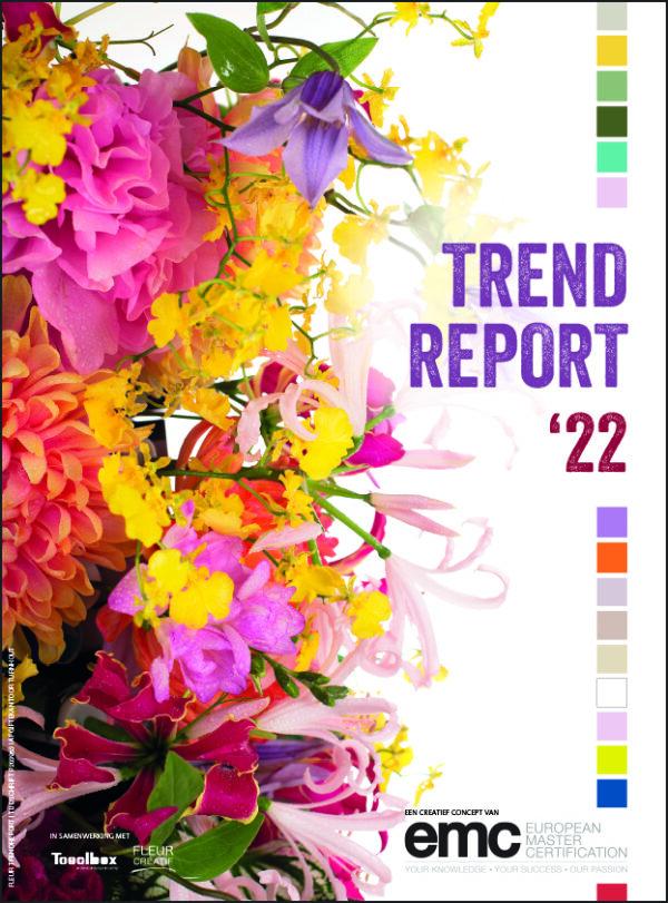 Nu verkrijgbaar in de FLEURSHOP: Trend Report 2022, met een overzicht van vier nieuwe florale trends voor 2022. Boordevol inspiratie en praktische tips!
